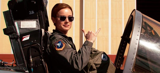 "Brie Larson stars in ""Captain Marvel."" The movie opens Thursday at Regal West Manchester Stadium 13, Frank Theatres Queensgate Stadium 13 and R/C Hanover Movies."