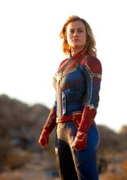"""Brie Larson stars in """"Captain Marvel."""" The movie opens Thursday at Regal West Manchester Stadium 13, Frank Theatres Queensgate Stadium 13 and R/C Hanover Movies."""