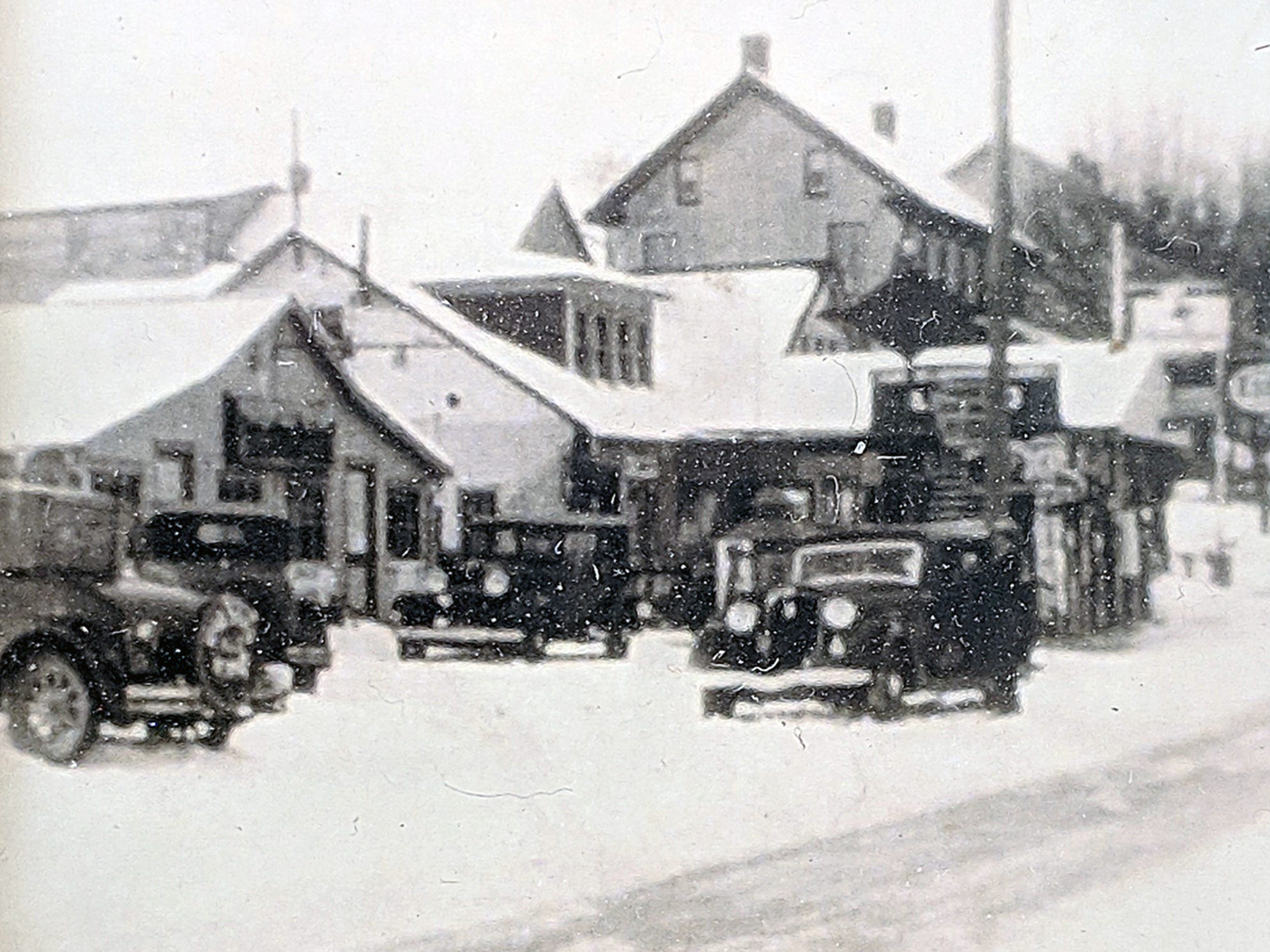 This was Bruce Smith's store in Jacobus as it looked in winter 1931.