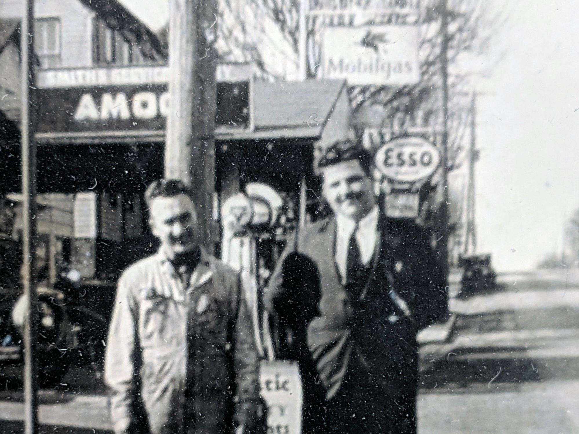 This is a view in front of Smith's store in Jacobus as it looked in 1933.