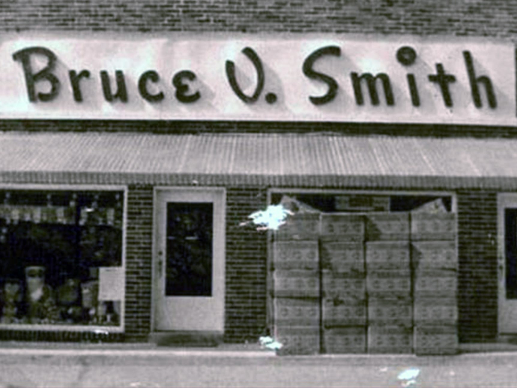 This is Smith's store in Jacobus as it looked in 1956.