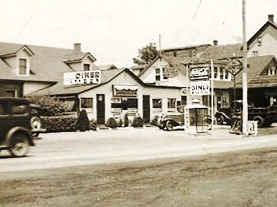 The is Smith's diner and service station in Jacobus as they looked in the 1930s.