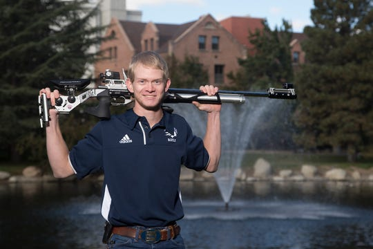 Mitchell Van Patten will graduate from Nevada this spring. He is competing in the NCAA rifle championships this week.