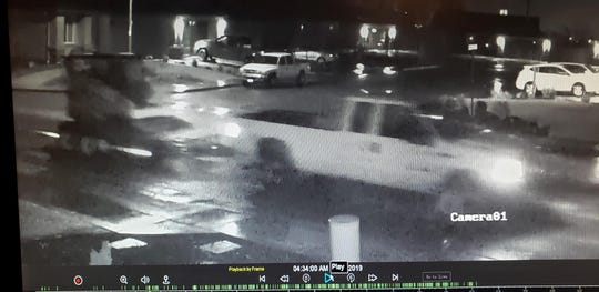 Have you seen this truck? This is surveillance video of the Ford pickup that Anderson police said drove away with a loader from the Pleasant Hills subdivision.