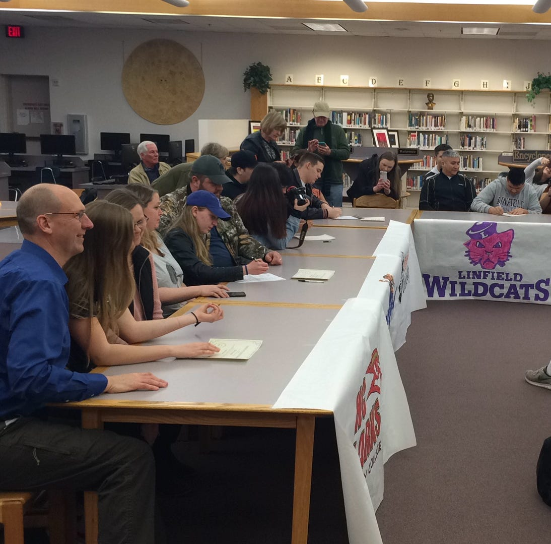 North Salem recognizes several athletes who signed to compete at college level