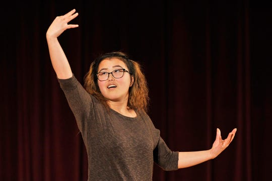 Amy Jarvie, a junior at Oregon School for the Deaf, will participate in the Oregon Poetry Out Loud championship March 9 at Salem Public Library.