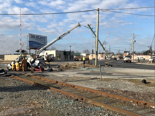 Route 13 near Newton Street and Vine Street in Salisbury has been closed for several hours after a crash on Tuesday, March 5, 2019.