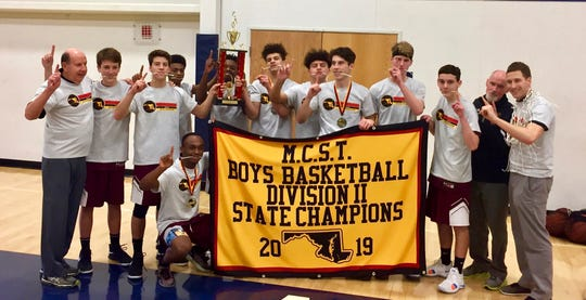 The Salisbury Christian boys basketball team won the M.C.S.T. state championship on Saturday, March 2, 2019.