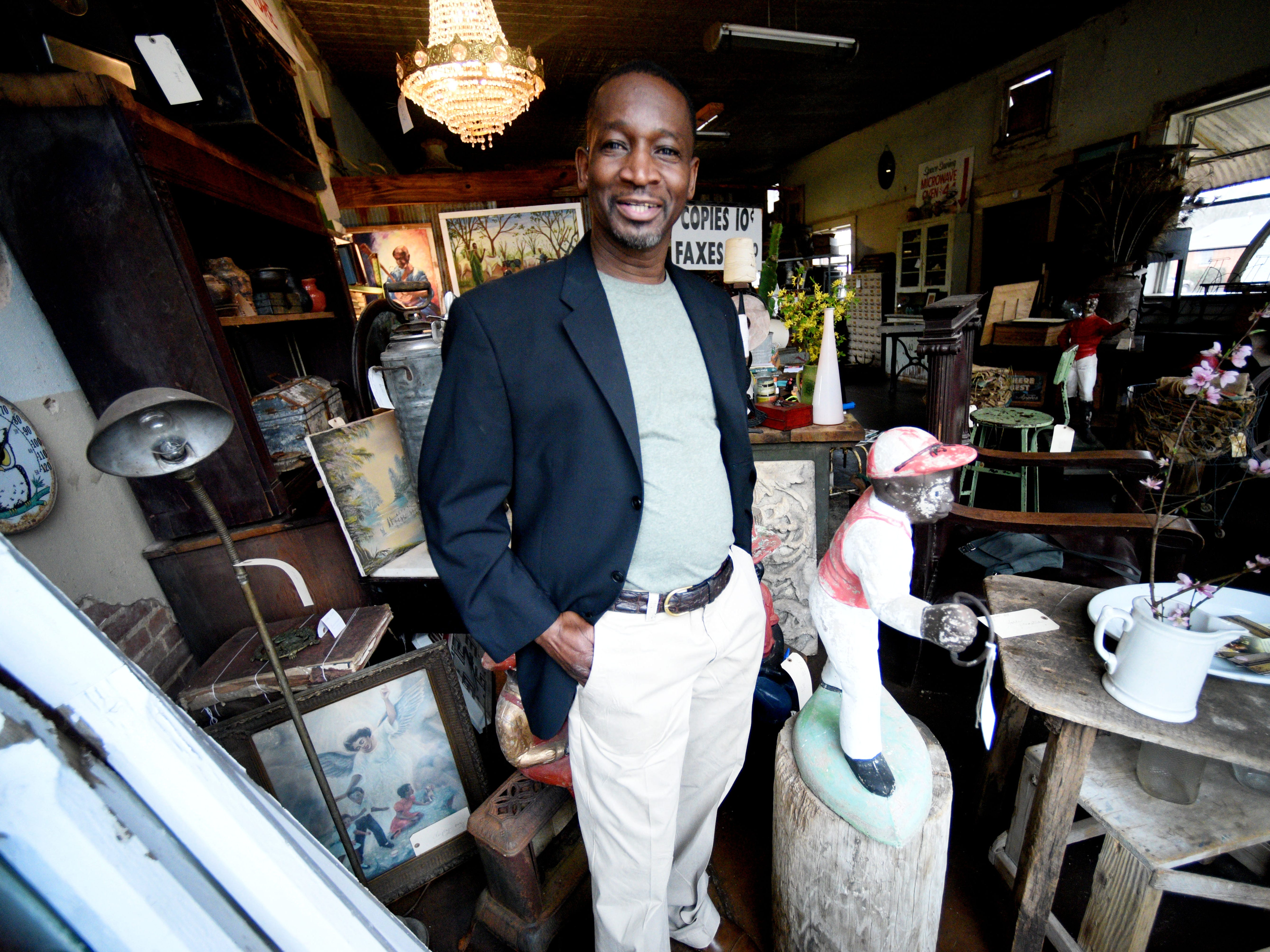 Ray Stevenson is the owner of Big MommaÕs Antiques and Restoration in Hossten, Louisiana.