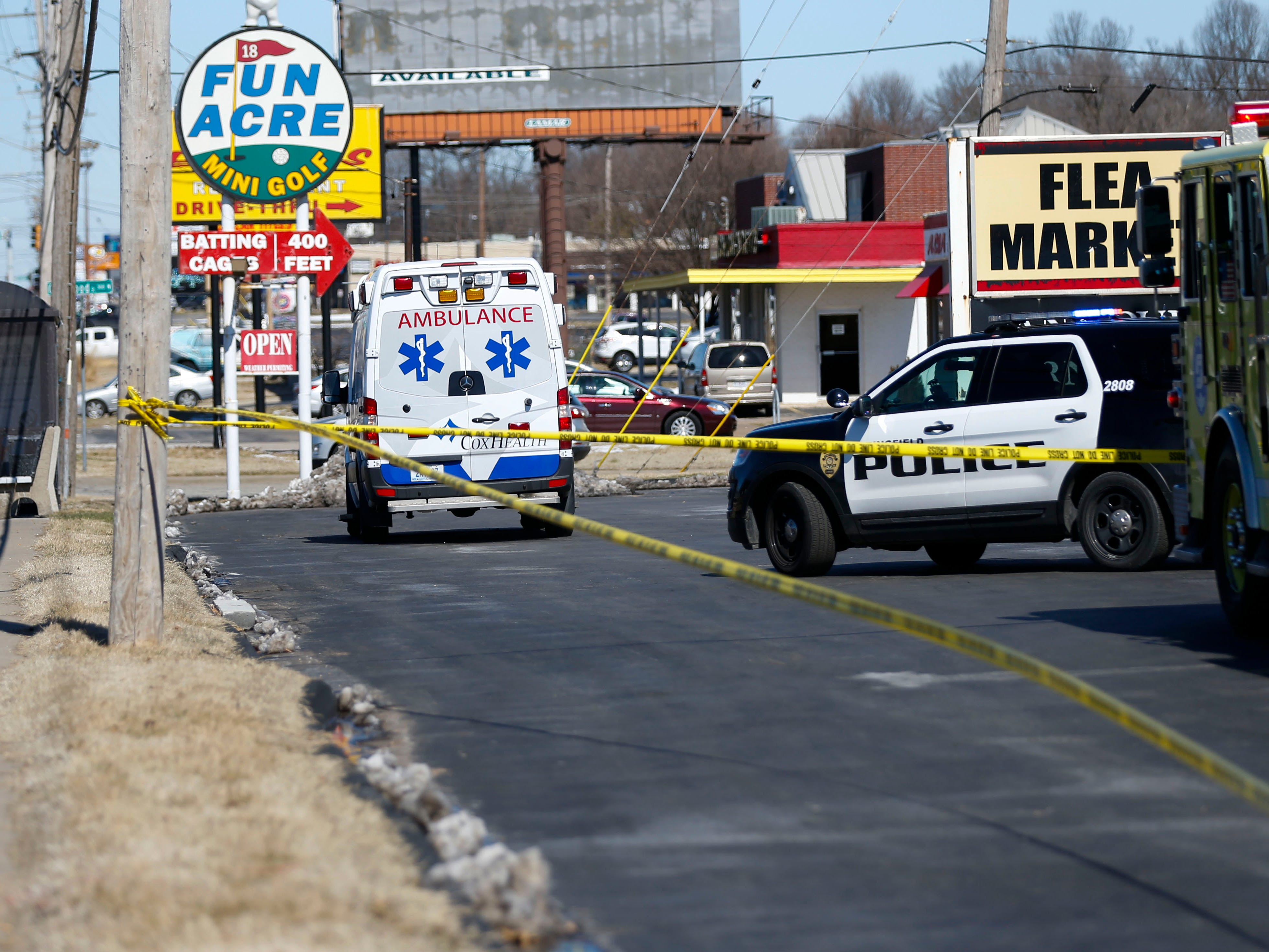 Law enforcement officials are investigating a shooting at the metroPCS in the 2500 block of South Campbell Ave. on Tuesday, March 5, 2019.