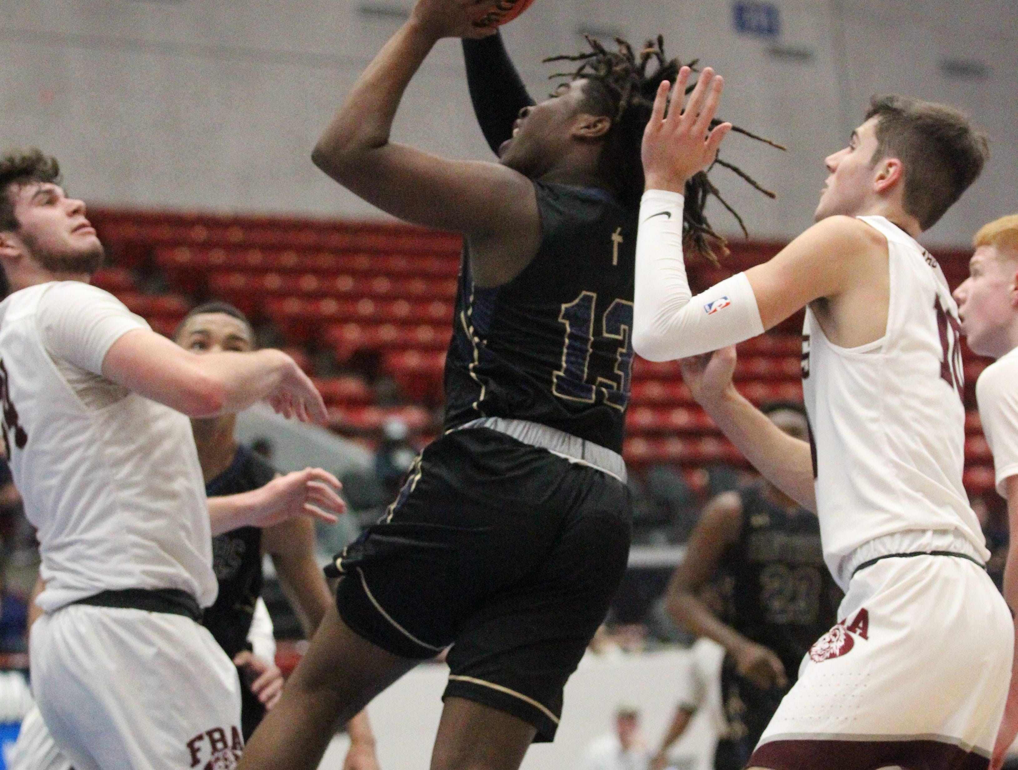 St. John Paul II beat First Baptist Academy 55-37 during a Class 3A state championship game at the RP Funding Center in Lakeland on March 4, 2019.