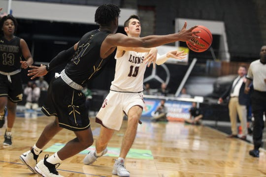 St. John Paul II beat First Baptist Academy 55-37 in a Class 3A state semifinal at the RP Funding Center in Lakeland on Monday.