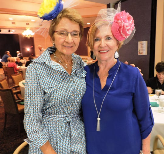 Maggy Barnett, left, and Cathy Stroud  at the Kick-off Gala for Garden Club of Stuart's Secret Gardens Tour at Sandhill Cove Retirement Living in Palm City.