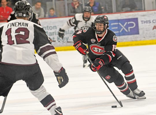 Patrick Newell attended Oak Park High for a year before playing junior hockey and ending up at St. Cloud State in Minnesota.