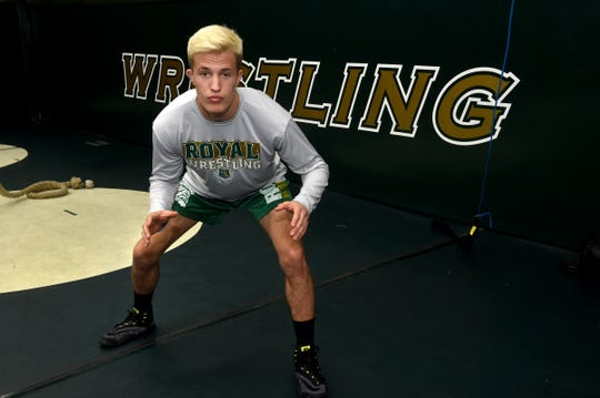 Jacob Hansen won his second straight CIF individual title and became the first wrestler in Royal High history to place at the state tournament when he took eighth at 145 pounds.