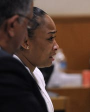 Shante Chappell and her attorney Ron Bamieh appear for Chappell's sentencing hearing in June 2014 over the death of Ventura educator Chris Prewitt.