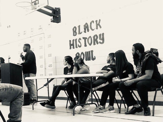 Cunningham Academy students participated in a Black History Bowl, a jeopardy-like game with all questions pertaining to Black History, during their second annual Black History Celebration.