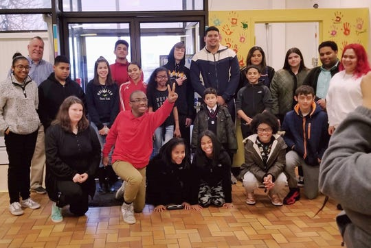 Jamil Demby, a Vineland native and a member of the Los Angeles Rams, recently visited the Boys & Girls Club of Vineland's two sites. Demby spoke to club youth about his journey from being on the Vineland High School football team to going to the Super Bowl and encouraged them to follow their dreams.