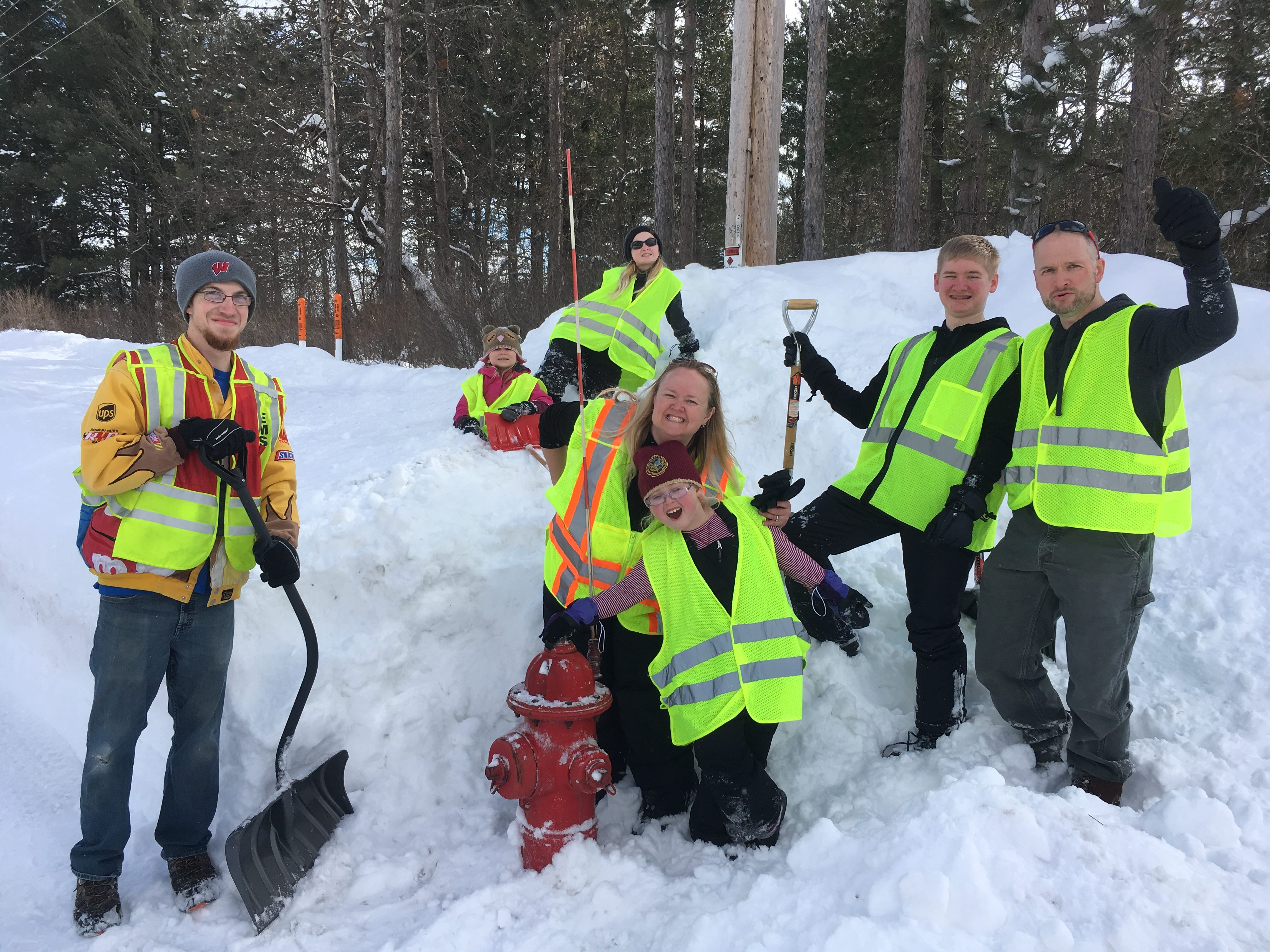 Volunteers dug out nearly 100 fire hydrants throughout Merrill on March 3 and 4, according to Fire Chief Josh Klug. Firefighters used maps and metal detectors to find the buried hydrants.