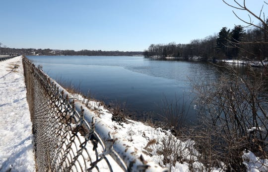 Lake DeForest, a Suez water company reservoir, seen from Congers Road March 5, 2019 in Congers. The reservoir is the primary source of water for Rockland County.