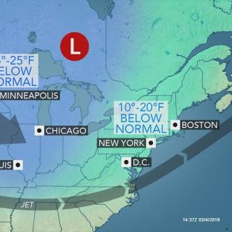 Cold weather grips area this week; when it warms up; next snow chance