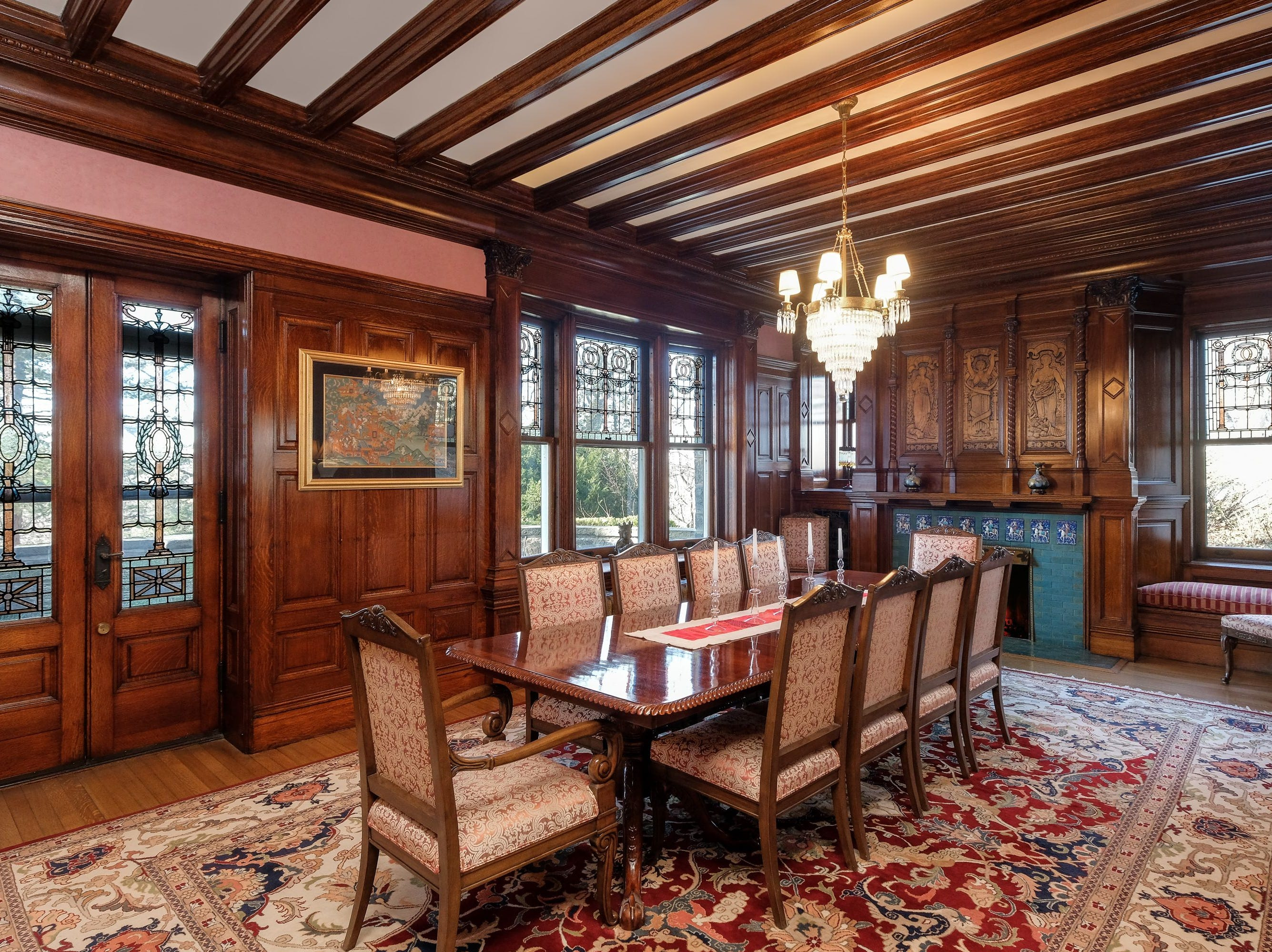 50 Crow's Nest in Bronxville. The 1849 Gothic Revival home retains many original details such as Tiffany stained glass.