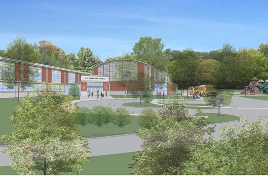 Rendering of Windward School planned for former March of Dimes headquarters in White Plains.