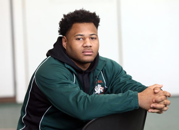 East Ramapo senior Jhordyn Innocent who was photographed at Ramapo High School on March 5, 2019 is The Journal News 2018-19 Rockland wrestler of the year.
