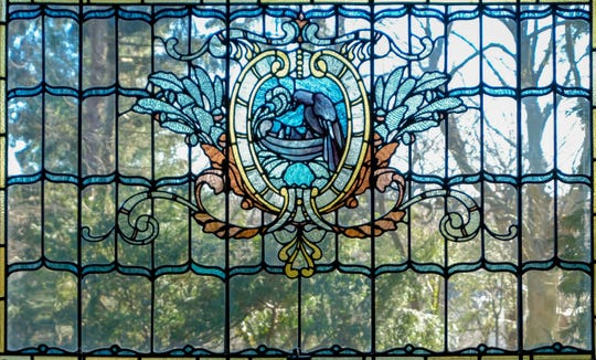 An original Tiffany window designed for the Crow's Nest in Bronxville.