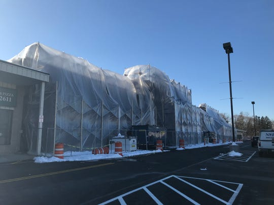 The former Pathmark supermarket has been transformed into Homesense and Marshalls. Homesense is set to open March 28.