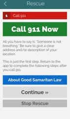 Users of the OpiRescue Delaware app can call 911 directly through the application's interface.