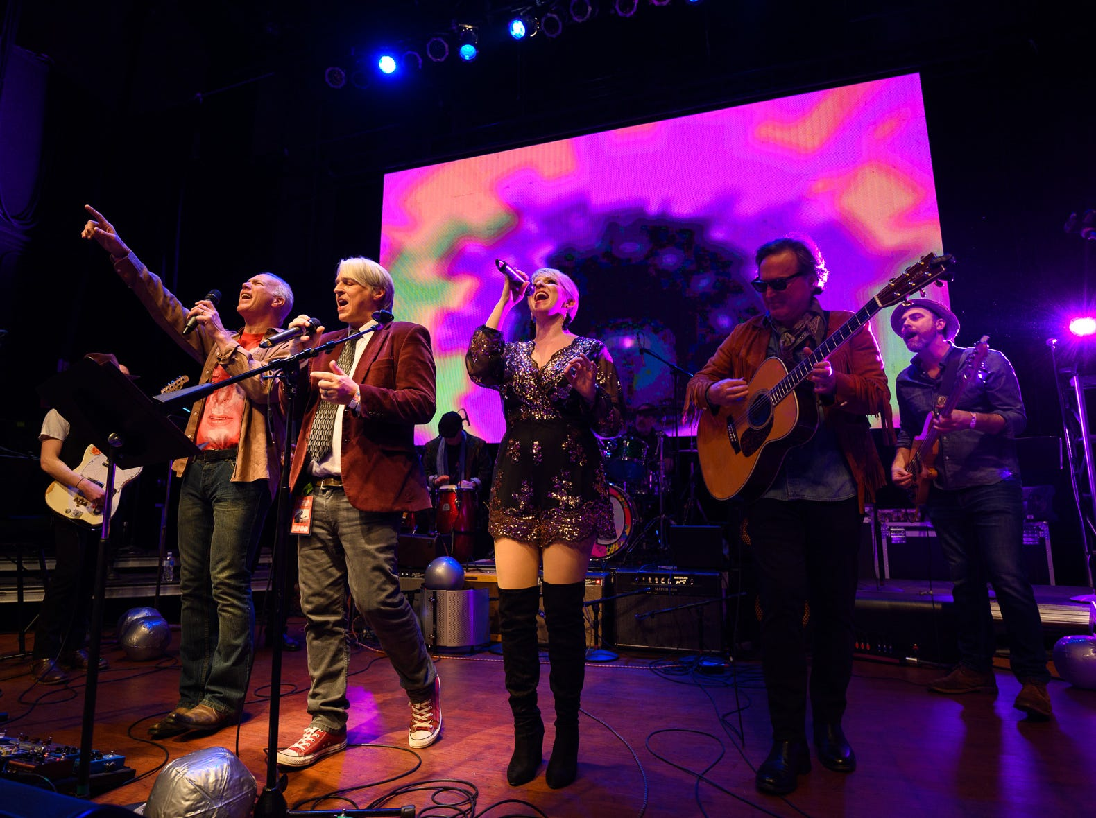 The annual Shine a Light concert was held March 2 at The Queen befitting the Light Up the Queen Foundation and music education programs. More than 60 local musicians played the songs of 1969 to a sold out crowd.