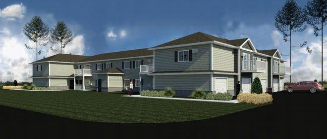 A rendering of the multi-family apartment units proposed by Premier Real Estate Management.