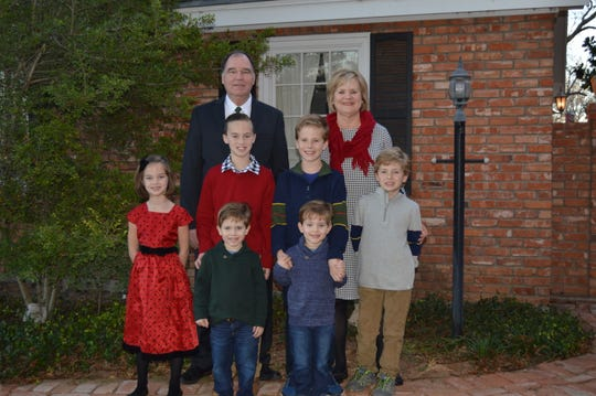 Vernon's Mike Klappenbach with his wife Rhonda and six grandchildren - Will, Sam, Andrew, Spencer Luke and Shelby.