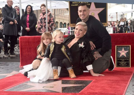 Carey Hart, Pink's husband, has taken to calling out the parent police before they can come for him.