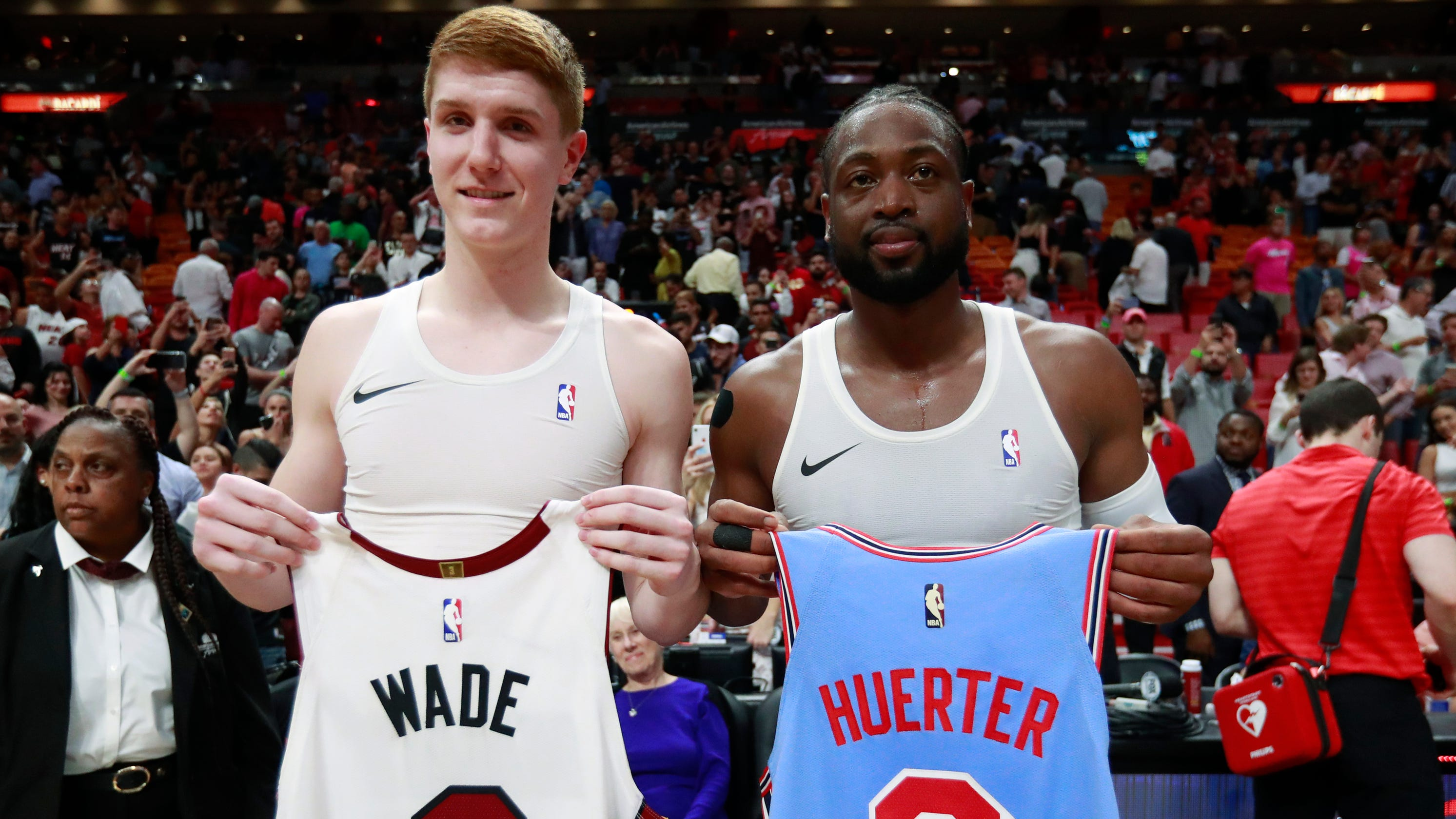 7d3468080b4 Why Dwyane Wade swapped jerseys with Hawks rookie Kevin Huerter