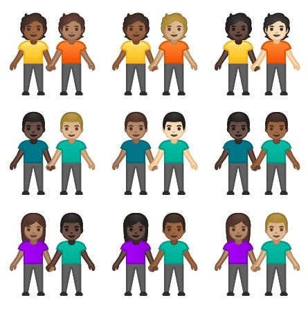 Interracial emojis have been approved by Unicode in response to a Tinder petition.