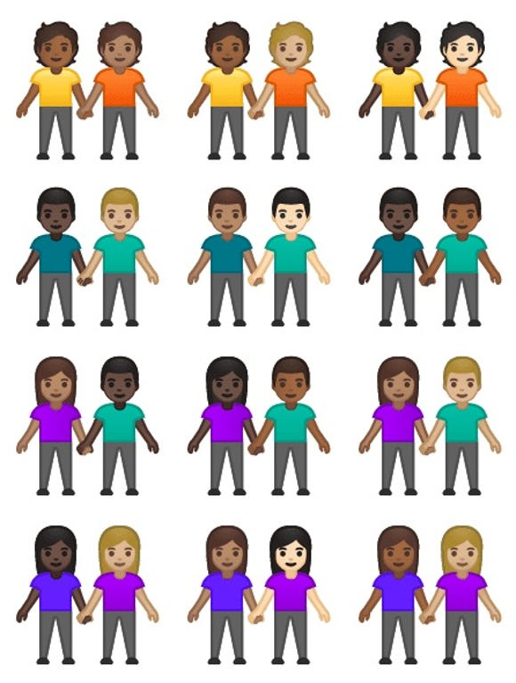 71 interracial couple emojis have been given the green-light