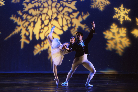 Roman Baca performs ballet with partner