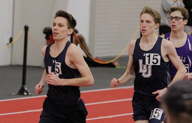 Josh Janusiak, left, of Lawrence University will run in the NCAA Division III Indoor Championships on Friday night in Boston.