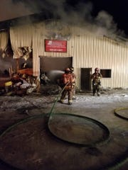 Town of Neenah fire crews assisted the Town of Vinland Fire Department in extinguishing a business fire Tuesday night.