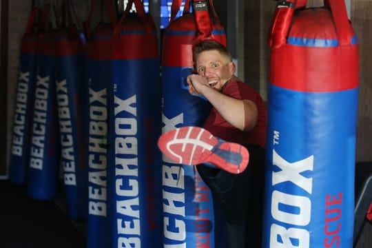 Wayne Strobel, owner of Beachbox, a year-old fitness and training facility, at his gym in Asbury Park, NJ Wednesday, March 6, 2019.