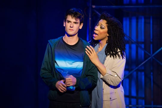 "Chris McCarrell And Jalynn Steele in ""The Lightning Thief."""