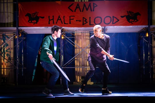 "James Hayden Rodriguez and Chris McCarrell in ""The Lightning Thief."""