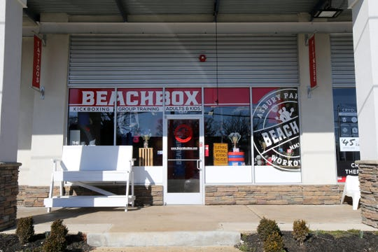 Exterior of Beachbox, a year-old fitness and training facility, in Asbury Park, NJ Wednesday, March 6, 2019.