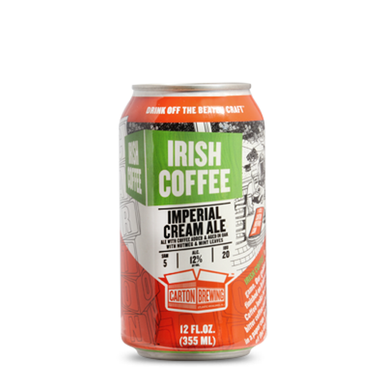 Carton Brewing of Atlantic Highlands will be dropping cans of Irish Coffee on March 17.