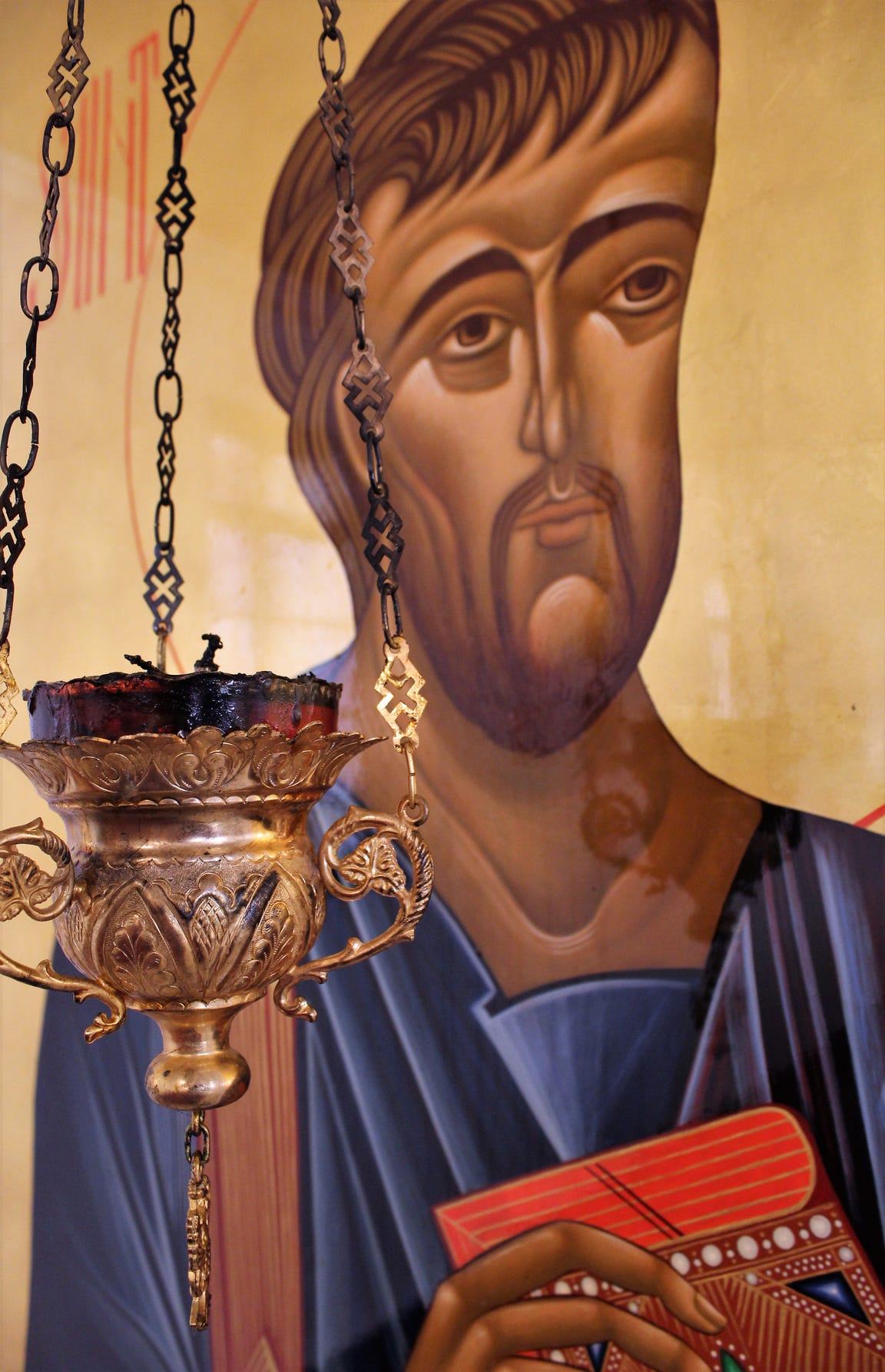 An icon of St. Luke is perfect for St. Luke Orthodox Church in Abilene.