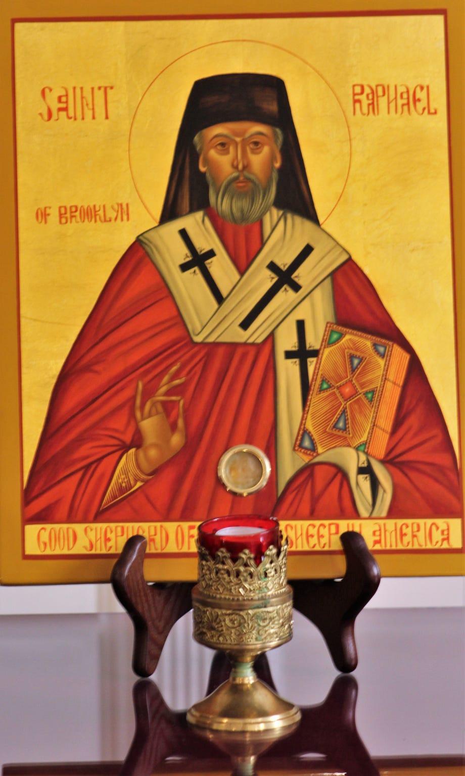 St. Rahael icon at St. Luke Orthodox Church in Abilene.