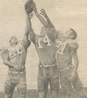 From left, Randy Allen, Jack Mildren and Jon Harrison, stars of the Cooper High School secondary in 1967.