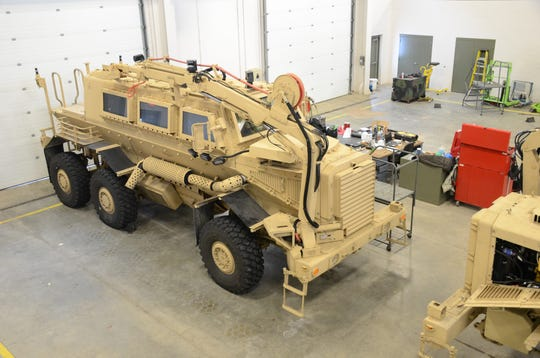 One of two Buffalo vehicles now at Fort Custer Training Center.